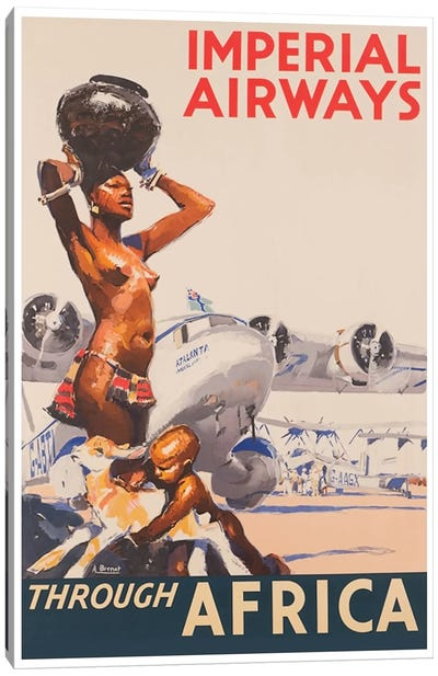 Imperial Airways Through Africa Canvas Art Print