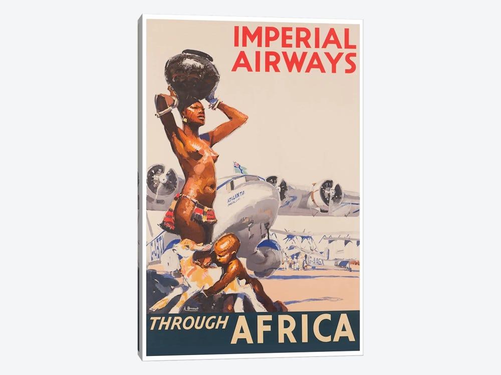 Imperial Airways Through Africa by Unknown Artist 1-piece Canvas Art Print