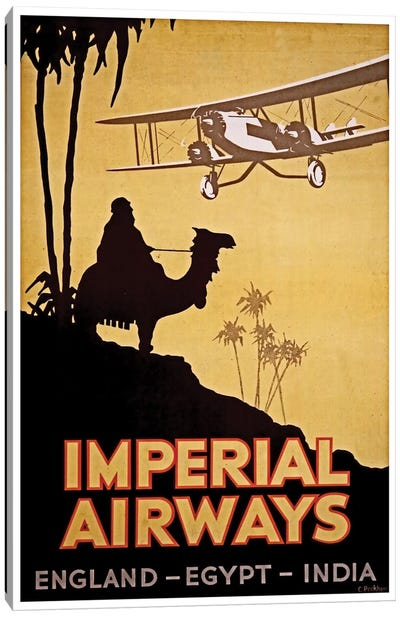 Imperial Airways: England, Egypt, India Canvas Art Print