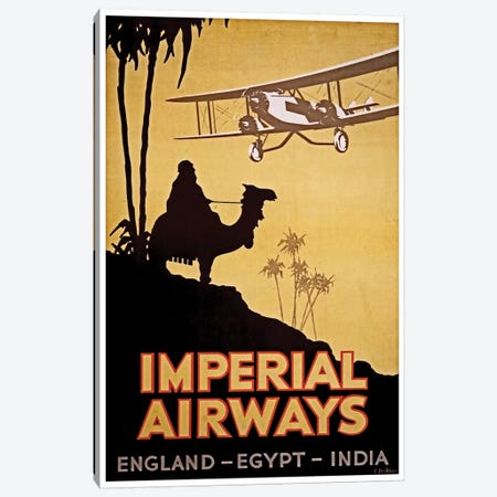 Imperial Airways: England, Egypt, India Canvas Print #LIV139} by Unknown Artist Canvas Wall Art