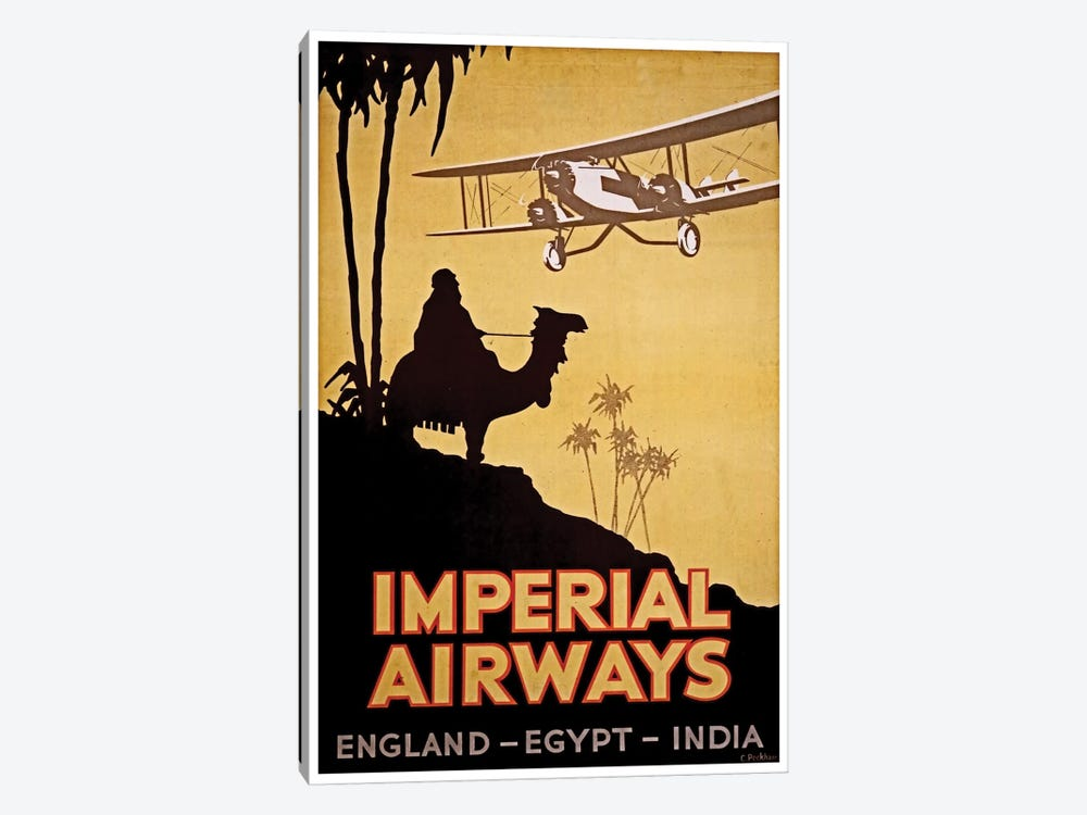 Imperial Airways: England, Egypt, India by Unknown Artist 1-piece Canvas Wall Art