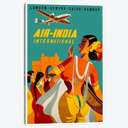 Air-India International Canvas Print #LIV13} by Unknown Artist Art Print