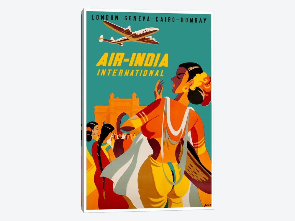 Air-India International by Unknown Artist 1-piece Canvas Wall Art