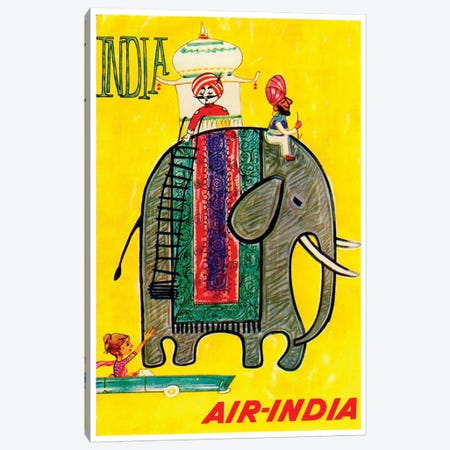 India - Air-India Canvas Print #LIV140} by Unknown Artist Canvas Art Print
