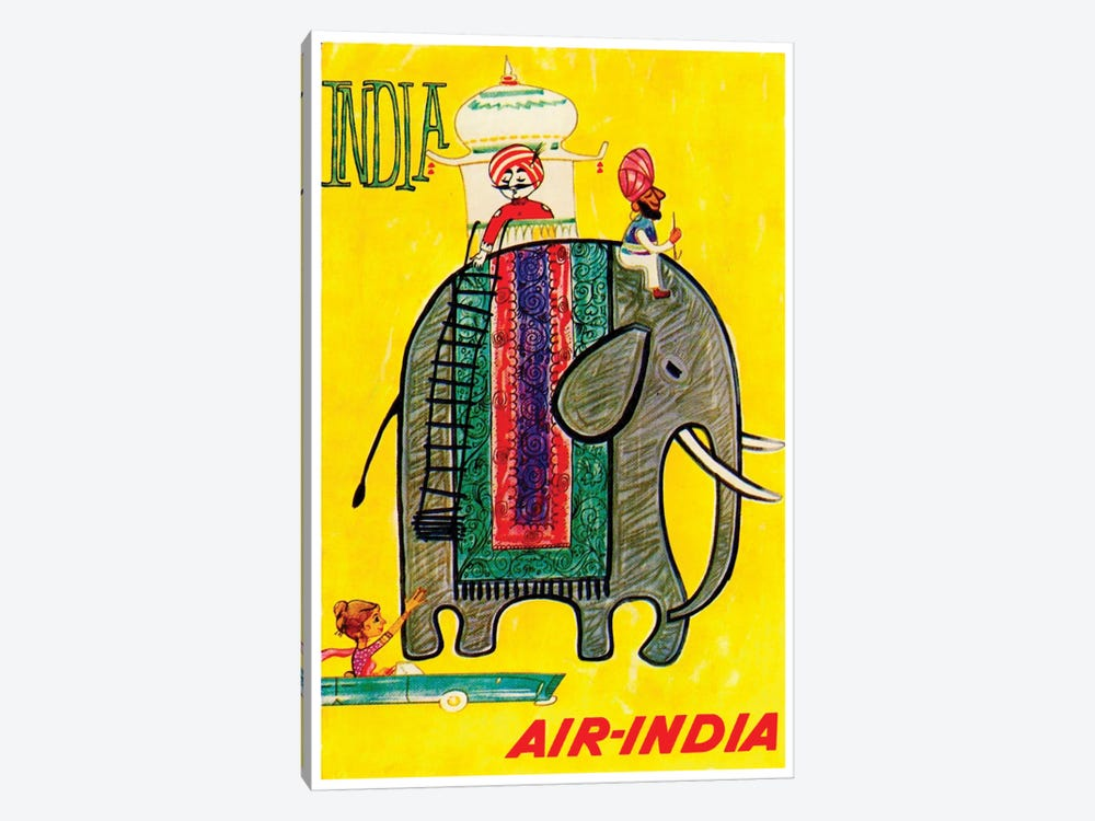 India - Air-India by Unknown Artist 1-piece Canvas Art