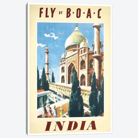 India - Fly By BOAC Canvas Print #LIV141} by Unknown Artist Canvas Print
