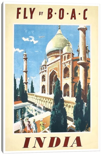 India - Fly By BOAC Canvas Art Print