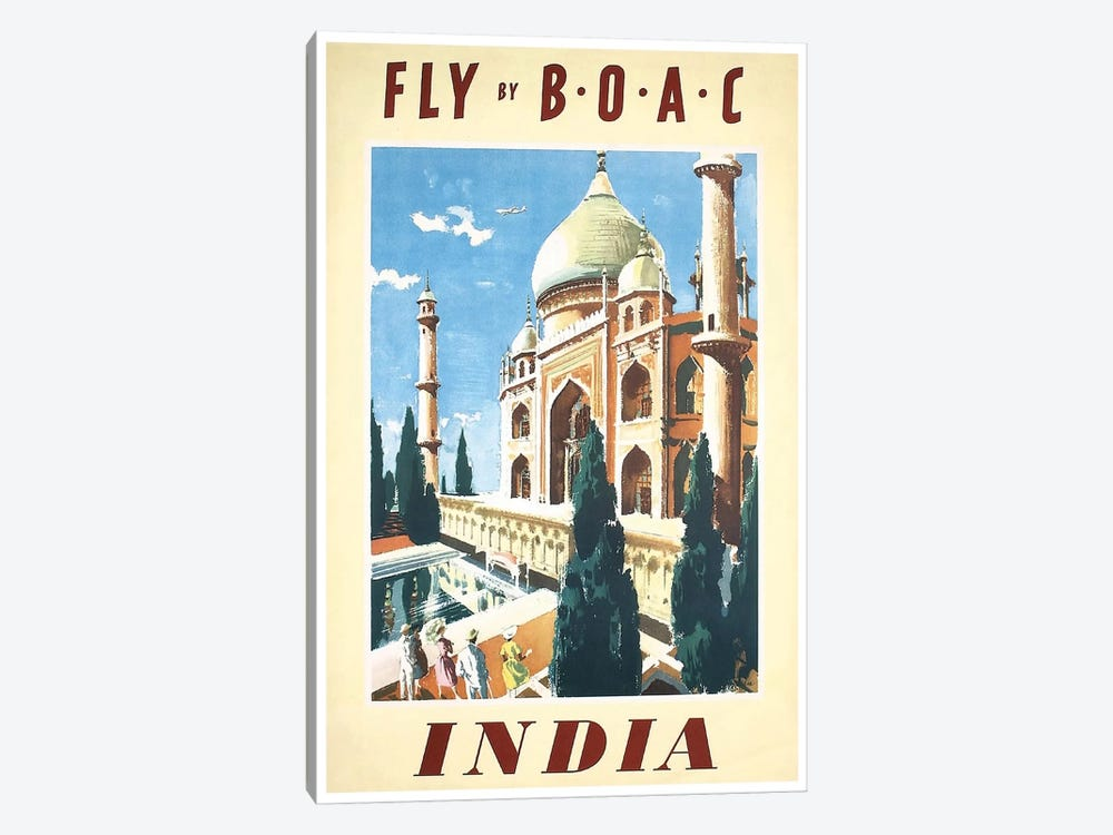 India - Fly By BOAC 1-piece Art Print