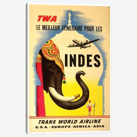 India - TWA I Canvas Print #LIV142} by Unknown Artist Canvas Art Print