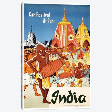 India: Car Festival At Puri Canvas Print #LIV144} by Unknown Artist Canvas Art