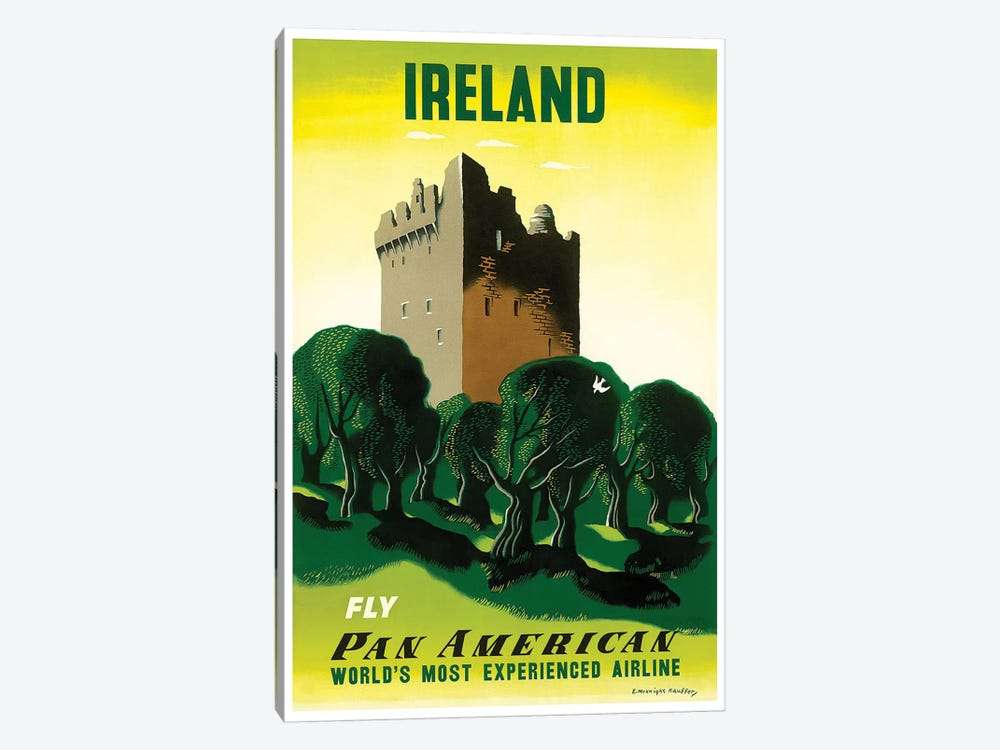 Ireland - Fly Pan American by Unknown Artist 1-piece Canvas Artwork