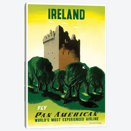 Ireland - Fly Pan American Canvas Print #LIV146} by Unknown Artist Canvas Art