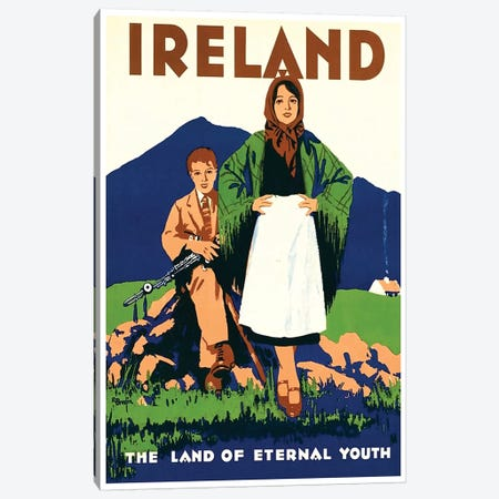 Ireland: The Land Of Eternal Youth Canvas Print #LIV147} by Unknown Artist Canvas Artwork