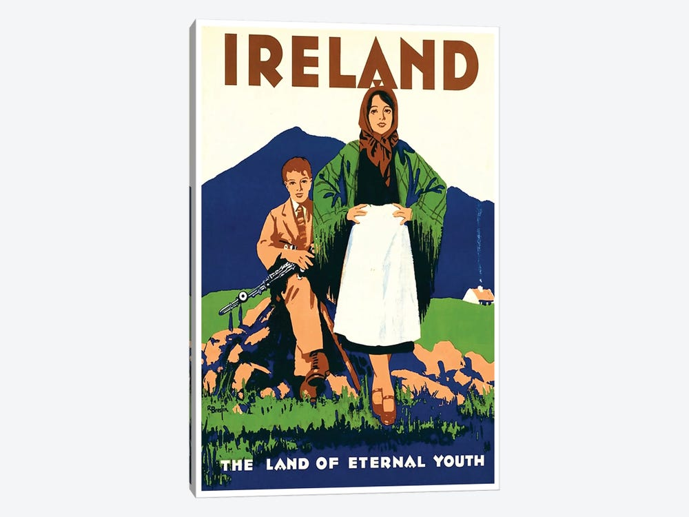 Ireland: The Land Of Eternal Youth by Unknown Artist 1-piece Canvas Art Print