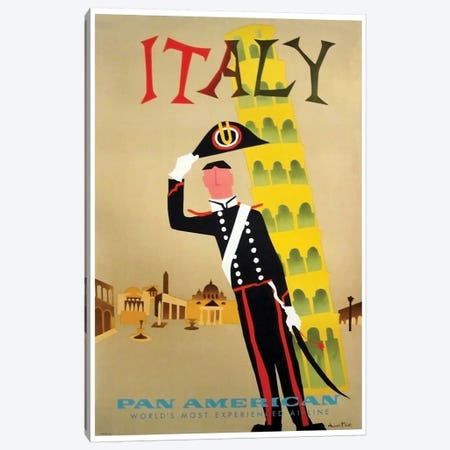 Italy - Pan American Canvas Print #LIV150} by Unknown Artist Canvas Wall Art