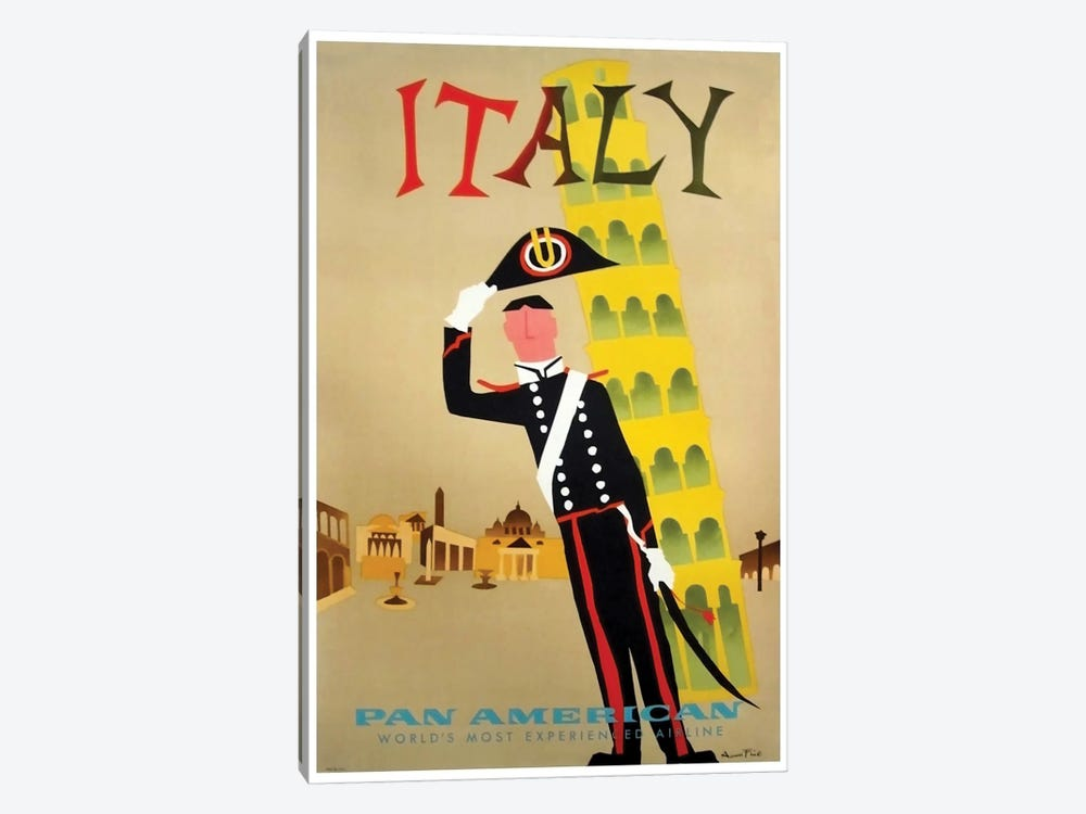 Italy - Pan American by Unknown Artist 1-piece Canvas Art Print