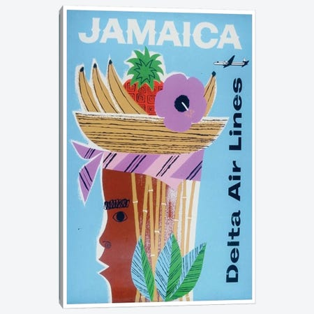 Jamaica - Delta Air Lines Canvas Print #LIV155} by Unknown Artist Canvas Art Print