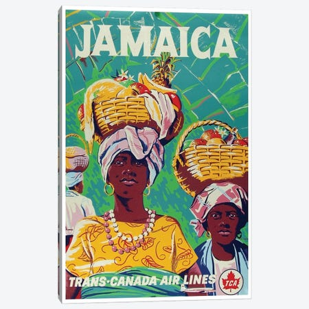 Jamaica - Trans-Canada Air Lines Canvas Print #LIV156} by Unknown Artist Art Print