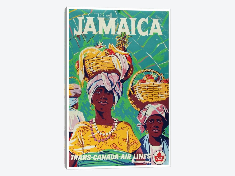 Jamaica - Trans-Canada Air Lines 1-piece Canvas Art Print