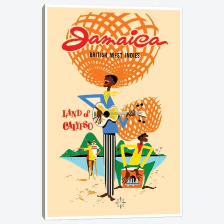Jamaica British West Indies: Land Of Calypso Canvas Print #LIV157} by Unknown Artist Canvas Art Print