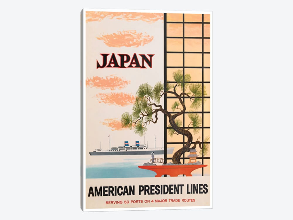 Japan - American President Lines by Unknown Artist 1-piece Canvas Art Print
