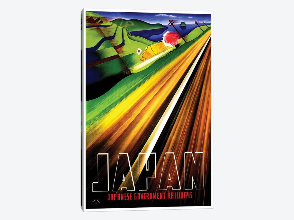 Japan - Japanese Government Railways by Unknown Artist 1-piece Canvas Wall Art