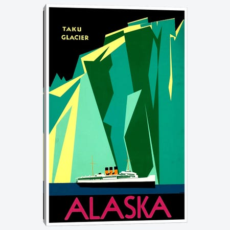 Alaska - Taku Glacier Canvas Print #LIV15} by Unknown Artist Canvas Artwork