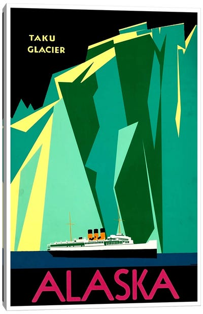 Alaska - Taku Glacier Canvas Art Print