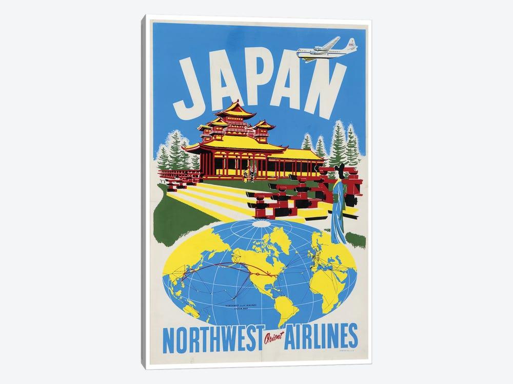 Japan - Northwest Orient Airlines by Unknown Artist 1-piece Canvas Art