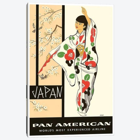 Japan - Pan American Canvas Print #LIV161} by Unknown Artist Art Print