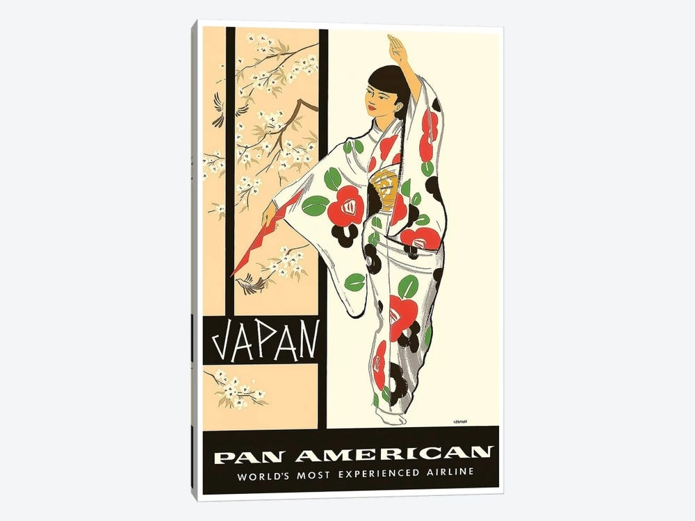 Japan - Pan American 1-piece Canvas Art Print