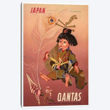 Japan - Qantas, Australia's Overseas Airline Canvas Print #LIV162} by Unknown Artist Art Print