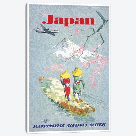 Japan - Scandinavian Airlines System Canvas Print #LIV163} by Unknown Artist Canvas Art Print