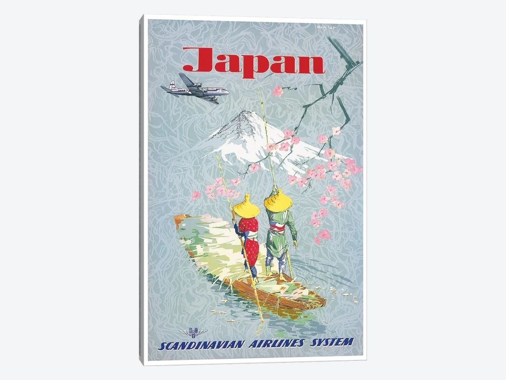 Japan - Scandinavian Airlines System by Unknown Artist 1-piece Canvas Print