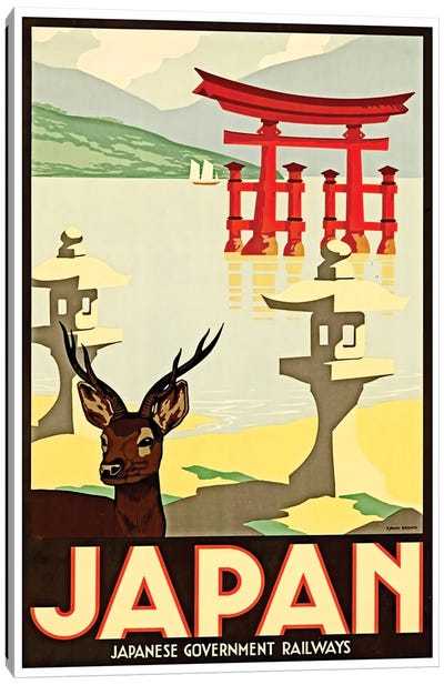 Japanese Government Railways Canvas Print #LIV166