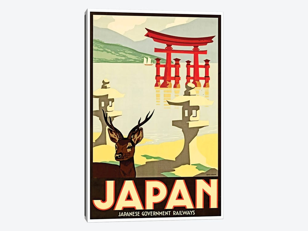 Japanese Government Railways by Unknown Artist 1-piece Canvas Art