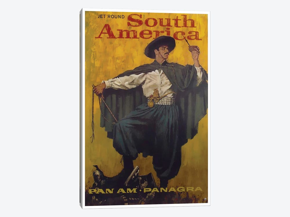 Jet 'Round South America - Pan Am by Unknown Artist 1-piece Art Print