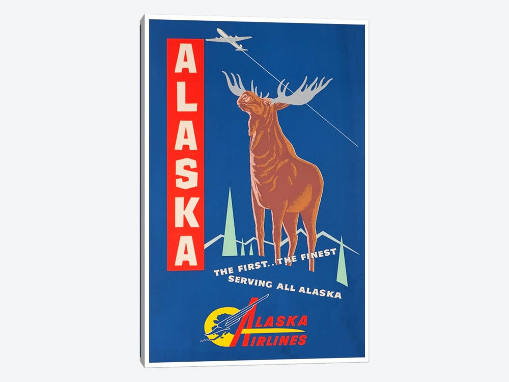 Alaska, The First…The Finest - Alaska Airlines by Unknown Artist 1-piece Art Print