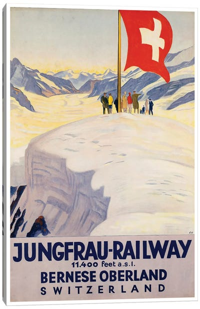 Jungrau Railway - Bernese Oberland, Switzerland Canvas Art Print