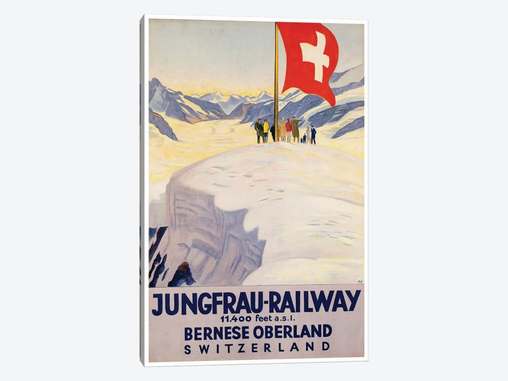 Jungrau Railway - Bernese Oberland, Switzerland by Unknown Artist 1-piece Canvas Art Print