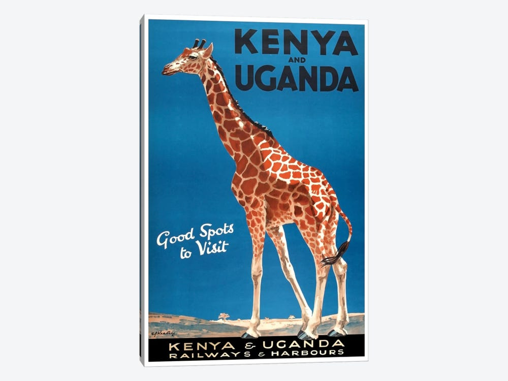 Kenya And Uganda Railways & Harbours 1-piece Canvas Art Print