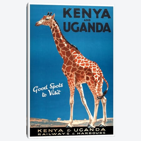 Kenya And Uganda Railways & Harbours Canvas Print #LIV172} by Unknown Artist Canvas Wall Art