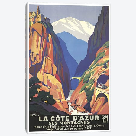 La Cote d'Azur (The French Riviera) Canvas Print #LIV175} by Unknown Artist Art Print
