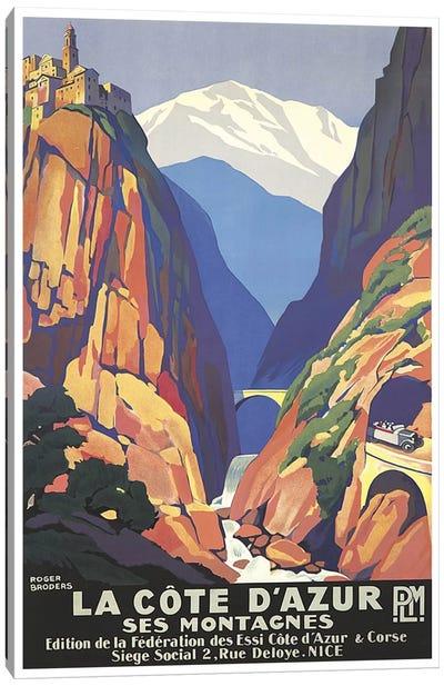 La Cote d'Azur (The French Riviera) Canvas Print #LIV175