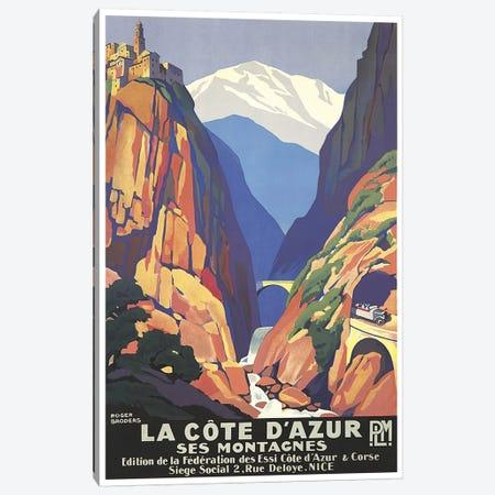 La Cote d'Azur (The French Riviera) Canvas Print #LIV175} by Unknown Artist Art Print
