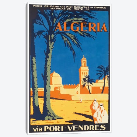 Algeria Via Port-Vendres 3-Piece Canvas #LIV17} by Unknown Artist Canvas Art
