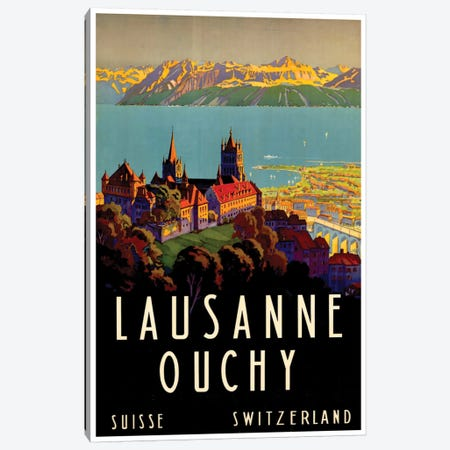 Lausanne-Ouchy, Switzerland II Canvas Print #LIV182} by Unknown Artist Canvas Art Print
