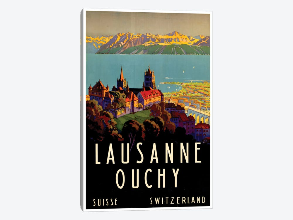 Lausanne-Ouchy, Switzerland II 1-piece Canvas Wall Art