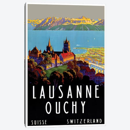 Lausanne-Ouchy, Switzerland III Canvas Print #LIV183} by Unknown Artist Canvas Art Print