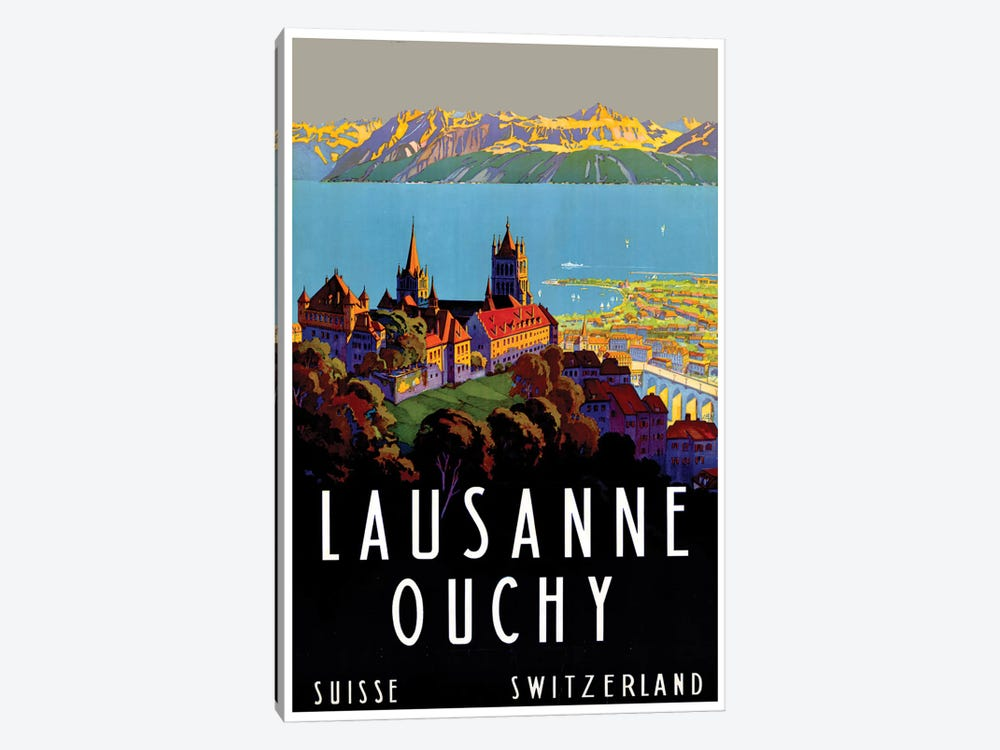 Lausanne-Ouchy, Switzerland III by Unknown Artist 1-piece Canvas Print